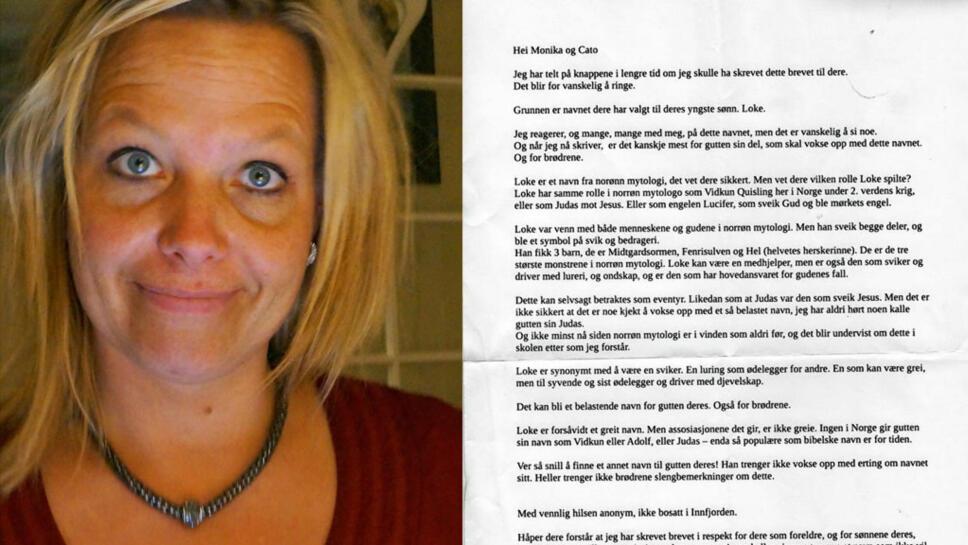 16101645 ANONYMT BREV: Detter er brevet Monika Haugen Vik trodde var et hyggelig  julebrev på julaften