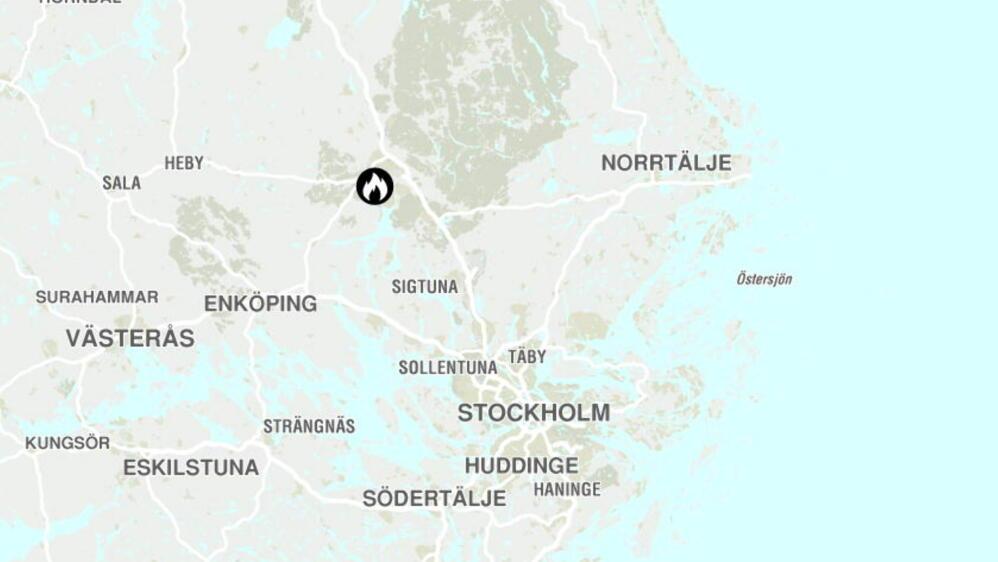 kart skogbrann sverige Grilling kan ha startet campingvognbrann kart skogbrann sverige