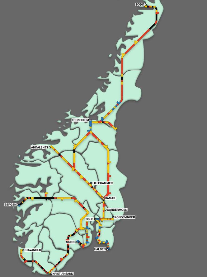 mobildekning kart NSBs eget kart avslører elendig nett dekning for norske togpassasjerer mobildekning kart