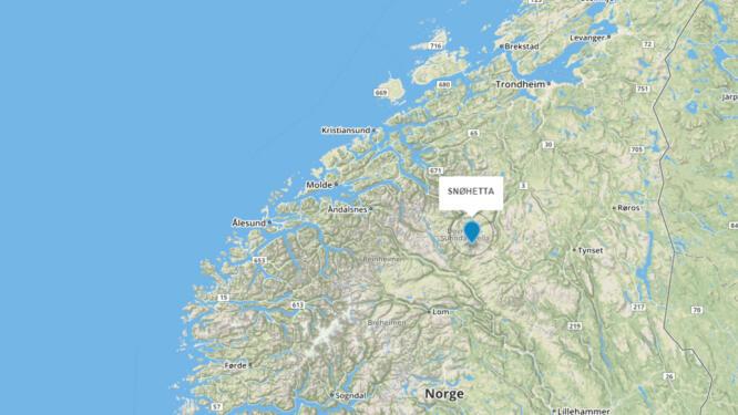 snøhetta kart Tre kvinner i 40 årene måtte reddes på Snøhetta snøhetta kart