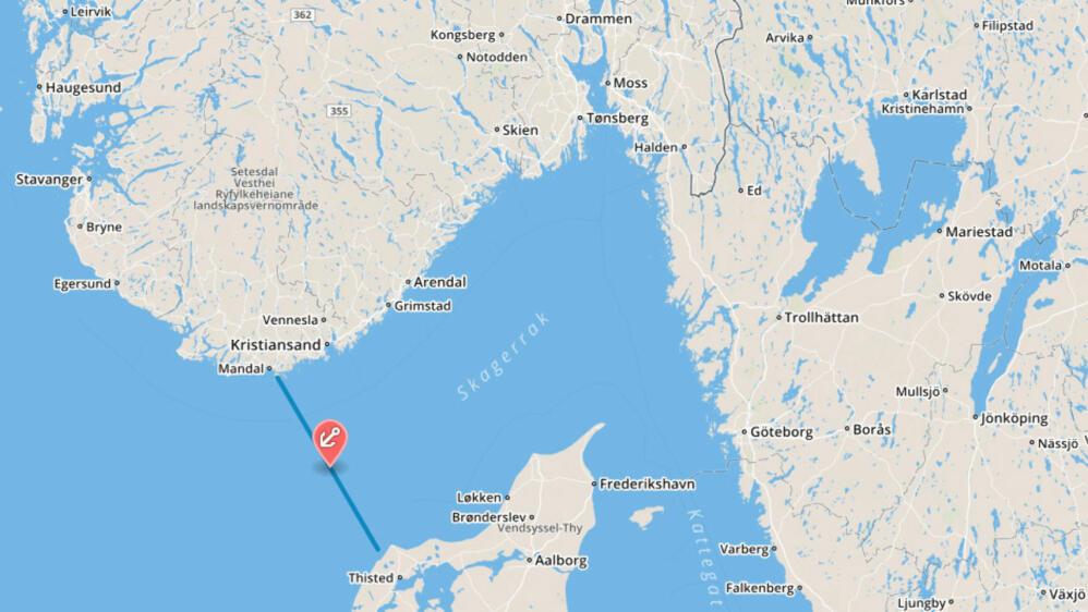 danmark norge kart Skulle kjøre vannscooter fra Norge til Danmark   gikk tom for bensin danmark norge kart