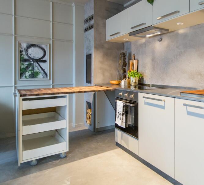 Strålende Utnyttet plassen maksimalt da den lille leiligheten ble pusset opp VT-91