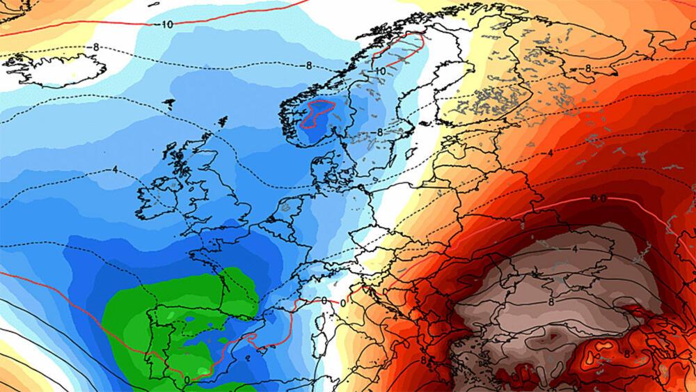 været i europa kart Været deler Europa på langs været i europa kart