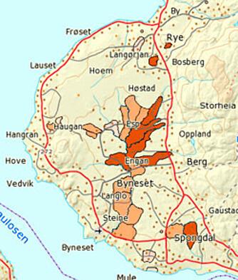 byneset kart Derfor er kvikkleire farlig byneset kart