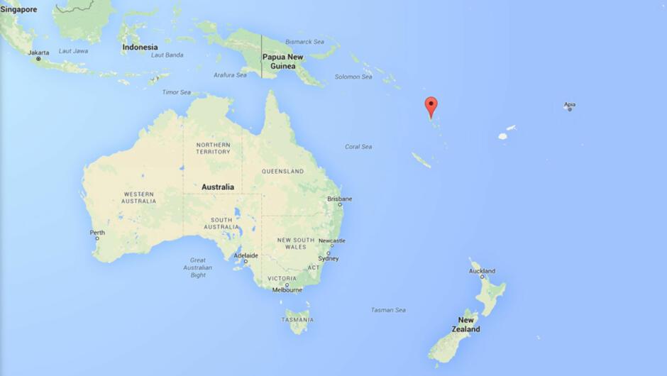 stillehavet kart Kraftig jordskjelv på Vanuatu stillehavet kart