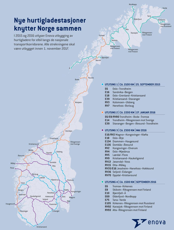 kart over ladestasjoner Gigantutbygging av ladestasjoner kart over ladestasjoner