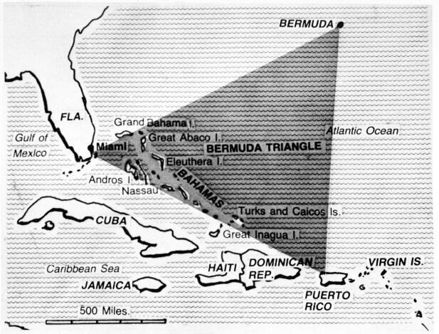 bermudatriangelet kart Hevder å ha løst mysteriet rundt Bermuda triangelet bermudatriangelet kart
