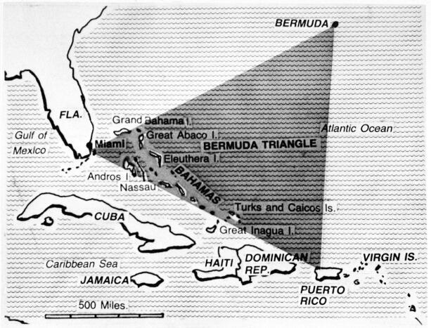bermudatriangelet kart Eksperter hevder endelig å ha løst mysteriet om Bermuda triangelet bermudatriangelet kart