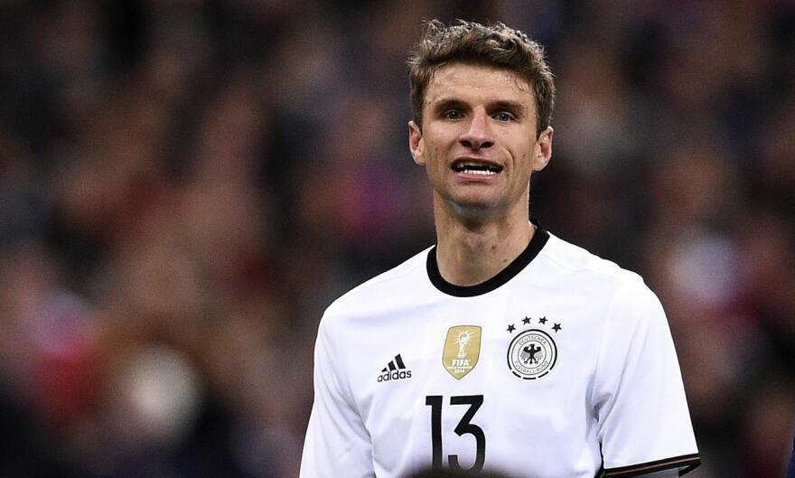 Den tyske stjernespilleren Thomas Müller har fornærmet San Marino og fått  svar. ff58121b6c1fa