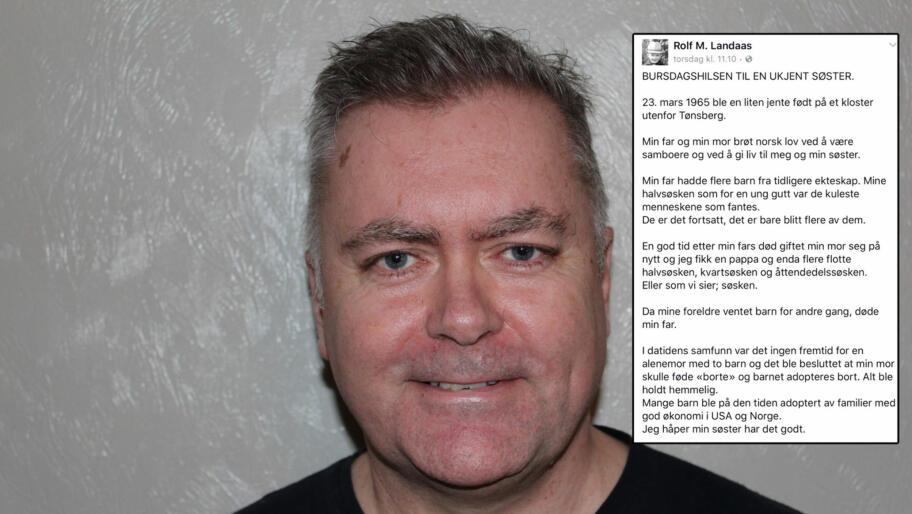 a7c3d7bc Rolf (54) ber om hjelp til å finne sin ukjente søster