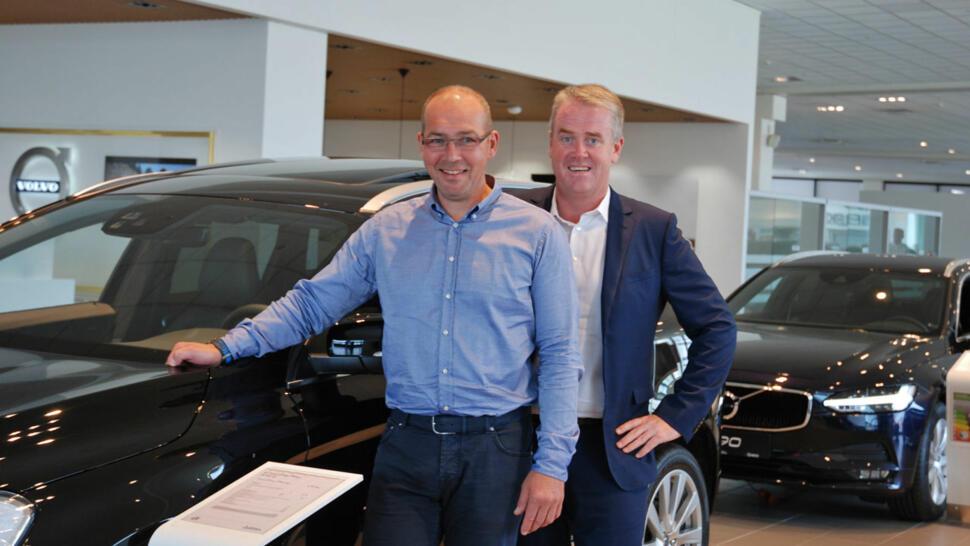 dcabc15d Markedsdirektør Finn Wilhelmsen og administrerende direktør Frode Hebnes i  Bilia lanserer netthandel med bruktbil, med