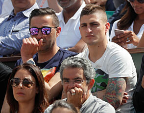 VIL STREIKE: Paris Saint-Germains Marco Verratti, her avbildet under Rolland Garros-turneringen i tennis, vil streike seg til Barcelona.