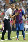 GODT SAMARBEID: Pep Guardiola (t.v.) og Dani Alves under tiden i Barcelona.