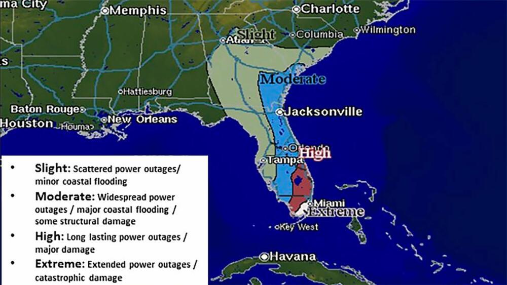mexicogulfen kart Vind opp i 260 km/t når Irma treffer Florida mexicogulfen kart