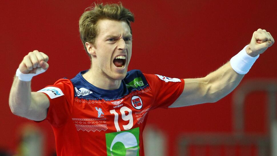 7e5fb3ea Kristian Bjørnsen jubler for en av mange scoringer mot Østerrike. Foto:  REUTERS/Antonio