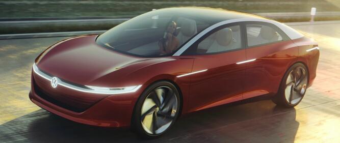 Det kan virke som om Tesla Model S har stått litt modell for VW da de laget konseptbilen ID Vizzion.