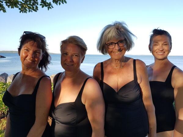 e2058e9b Disse damene fra Aasgaardstrand Kvindelige Badselskab har også testet  badedrakter. Her i badedrakter fra Cubus