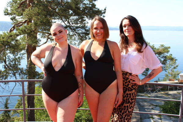 4d11cc1b Disse tre damene har vurdert badedraktene. Fra venstre: Charlotte Skogrand  Bø- tidligere deltaker