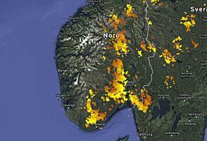 kart lynnedslag norge Dette er en ekstrem situasjon kart lynnedslag norge