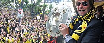 TYSK JUBEL: Klopp feirer seriegull med Borussia Dortmund i 2011.